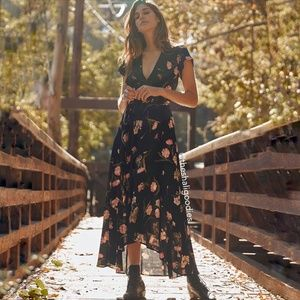 CHRISTY DAWN Autumn Maxi Wrap Dress Evening Floral